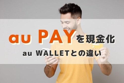 au PAYとau WALLETは違うの?